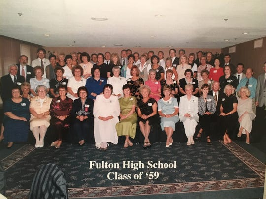 "The Fulton High School Class of 1959's 50th reunion in 2009 was full of fun, games and trivia. This time around they plan to ""just sit and talk to each other."""