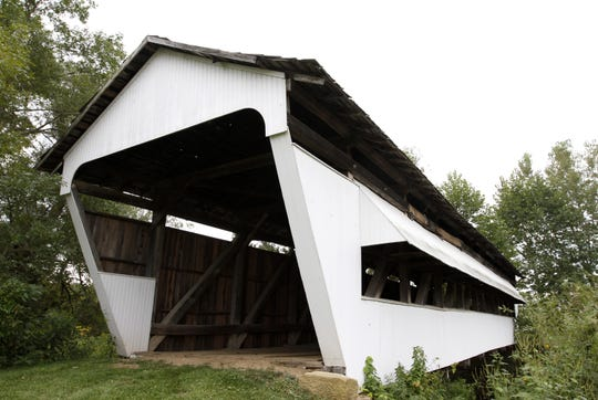 Hanaway Covered Bridge, on Clearport Road SW just north of Julian Road SW, is part of Two Glaciers Park in Madison Township. It is one of 17 original covered bridges in Fairfield County. The initial Covered Bridge Festival Sept. 14-15 will celebrate the history of all the bridges.