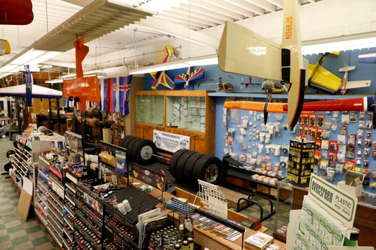 A section of Slaters Hardware is dedicated to model building and other hobby shop items.
