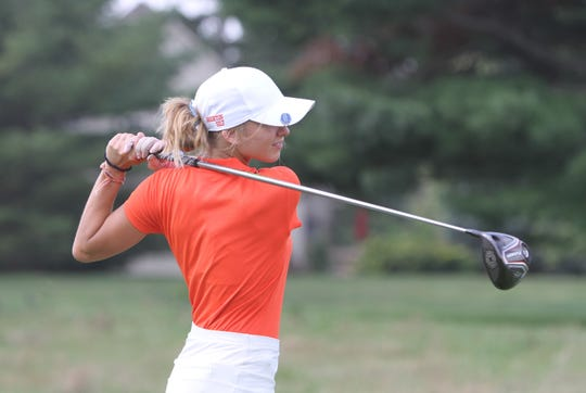 Brighton's Maggie Pietila tied for fifth with a 77 in the KLAA preseason golf tournament.