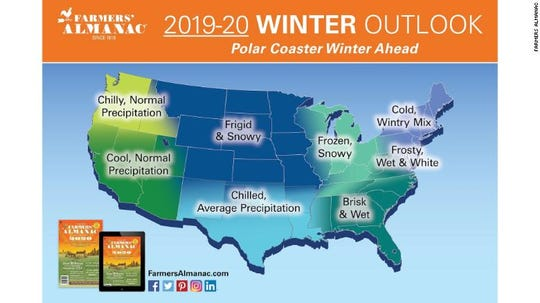 Farmers' Almanac 2019-20 Winter Outlook