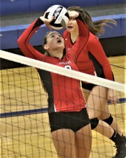 Shelby freshman Marleigh Albert took over as the full-time setter in the middle of the Lady Whippets' match with Ontario after an injury and led them to a 3-2 victory.