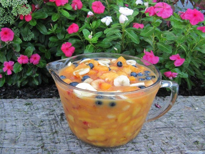 This week, Gloria provides a recipe for thisfruity summer slush.