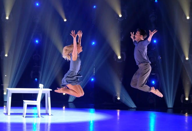 "Sophie Pittman (left) and dance partner Gino Consculluela (right) perform a contemporary routine to ""You Will Be Found"" from the ""Dear Evan Hansen"" musical on FOX's 'So You Think You Can Dance.'"