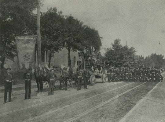 1893: Members of the Steamfitters and Steamfitter Helpers' Union line up for Milwaukee's Labor Day parade in 1893. This photo, provided by William Arndt, the union's business manager, was published in The Milwaukee Journal on Aug. 6, 1935.