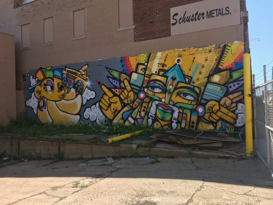 """Schuster Metals at 2206 N 30th St. has been dubbed as """"the gallery"""" by muralists because of the amount of graffiti art that covers the building."""