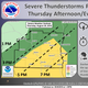 Severe storms expected to develop Thursday afternoon along cold front, bringing gusty winds
