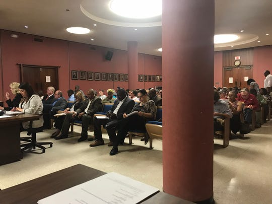 Residents from Buckhorn Bend Road and the surrounding communities filled the Monroe City Council chambers on Tuesday to protest an annexation request that was removed from the agenda.