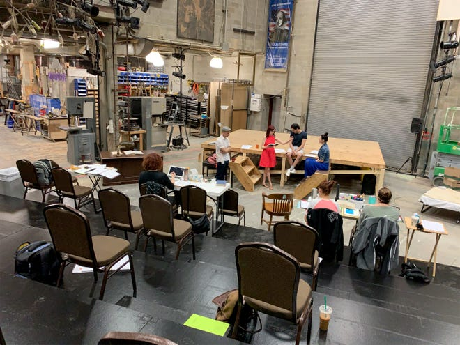 "Alabama Shakespeare Festival's production of Susan Ferrara's ""BUZZ"" is set in ASF's scene shop."