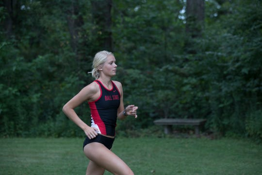 Emmalyne Tarsa will be one of the leaders on Ball State's cross country team this year. She's a junior.