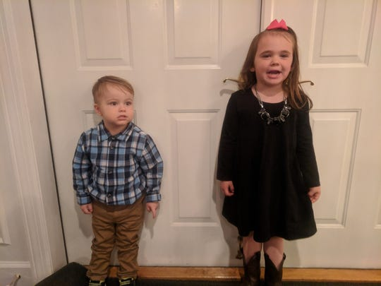 Authorities are searching for Jaxon Levi Robinson, 4, and Jocelyn Jane Robinson, 6, who are believed to be with their non-custodial mother, Amy Marie Newell-Robinson.