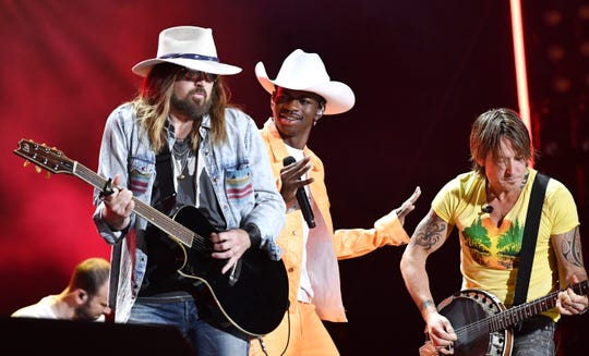 """Lil Nas X, featuring Billy Ray Cyrus, is a nominee for Musical Event of the Year for """"Old Town Road (Remix)."""""""