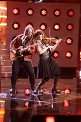 Fiddle player Jenee Fleenor, right, is a nominee for Musician of the Year.
