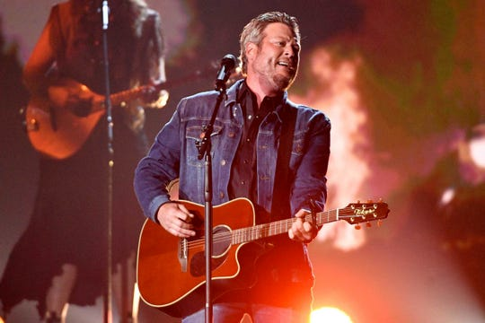 "Blake Shelton is a nominee for Single of the Year for ""God's Country."""
