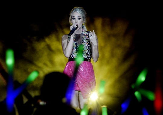 "Carrie Underwood will bring her ""The Cry Pretty Tour 360"" to a sold-out Bridgestone Arena on Friday."