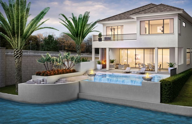 The two-story Sonoma model now under construction at Talis Park will feature 3,983 square feet under air and an outdoor living area.