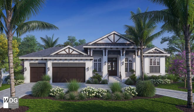 Rendering of Borelli Construction's new model home at 605 Parkview Lane, Naples.