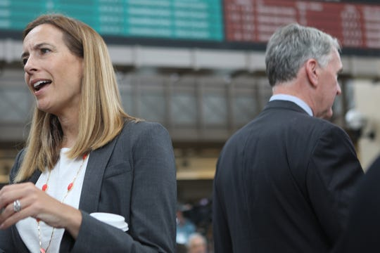 Congresswoman Mikie Sherrill is shown in Secaucus, before the start of the press conference. Wednesday, August 28, 2019