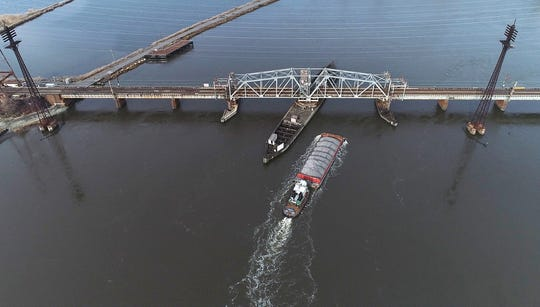 The Portal Bridge, which is owned and operated by Amtrak in Kearny, only has a 23 feet of clearance at high tide to allow boats underneath it.