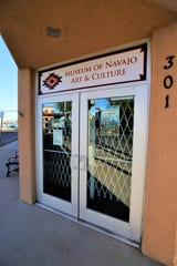 A new sign above the entrance greets visitors to the Museum of Navajo Art and Culture in downtown Farmington.