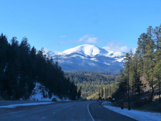 Sierra Blanca from Dark Canyon and Apache Summit in Mescalero on the highway into Ruidoso is a view treasured by many.