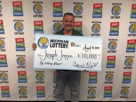 Joseph Jensen of South Lyon won the Fantasy 5 double play jackpot last week.