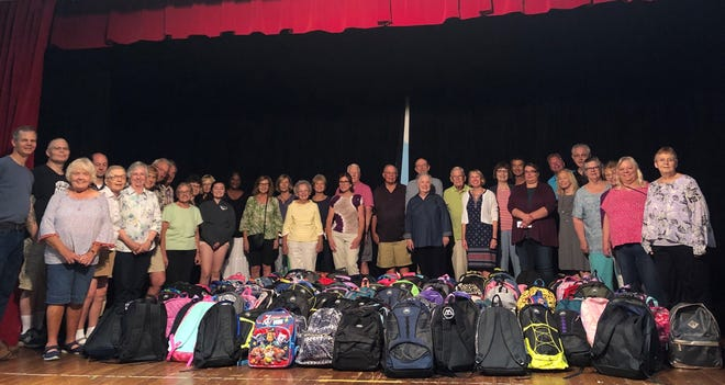 An enthusiastic crew of volunteers at First Presbyterian Church of Birmingham filled 200 backpacks for children served by Orchards Children's Services. Many children will begin school this year feeling a sense of pride and confidence. The workers felt a sense of satisfaction and service as they worked.