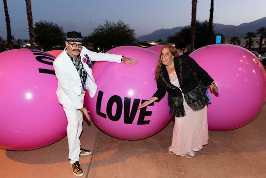 Tim Rains and Shann Carrtten attend the 10th annual LGBTQ Film Festival, 2018.