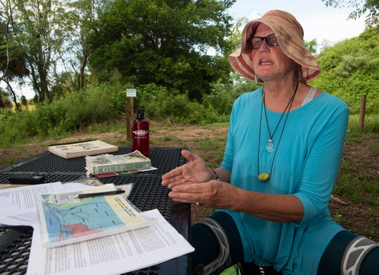 Environmentalist Barbara Albrecht describes issues she has encountered with the local environment and discusses the 20th anniversary of a special grand jury investigation that outlined the challenges of Escambia County's air and water quality during an interview on Tuesday, Aug. 27, 2019.