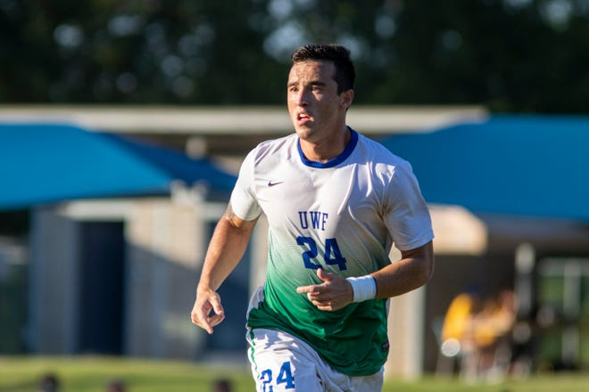 2018 Gulf South Conference Player of the Year Sean Hoffstatter is one of eight returnees for UWF soccer in the 2019 season.
