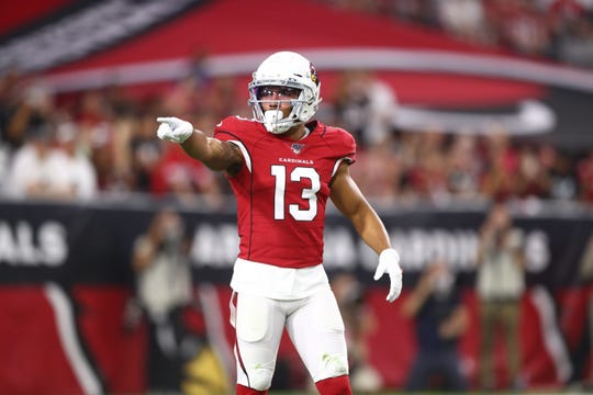 Cardinals receiver Christian Kirk had 43 catches for 590 yards and three touchdowns as a rookie last season.