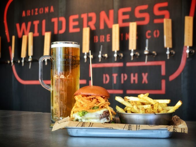 """Following an executive order from Gov. Doug Ducey on March 19, metro Phoenix bars are closed except for takeout and delivery.<br /> <strong>Arizona Wilderness Brewing Company</strong> offers food and beer pickup at both its downtown Phoenix and Gilbert locations. Beer delivery orders must be made through the company&#39;s online store at&nbsp;<a href=""""https://www.azwbeershop.com/"""">azwbeershop.com</a>. <strong>Details: </strong>201 E. Roosevelt Street, Phoenix.&nbsp;480-462-1836. Also,&nbsp;721 N. Arizona Avenue, Gilbert. 480-497-2739."""