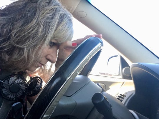 I'm inching along in traffic, blissfully basking in the cold breeze from the car's air conditioning, when suddenly the blowing air is warm. Please, not now.