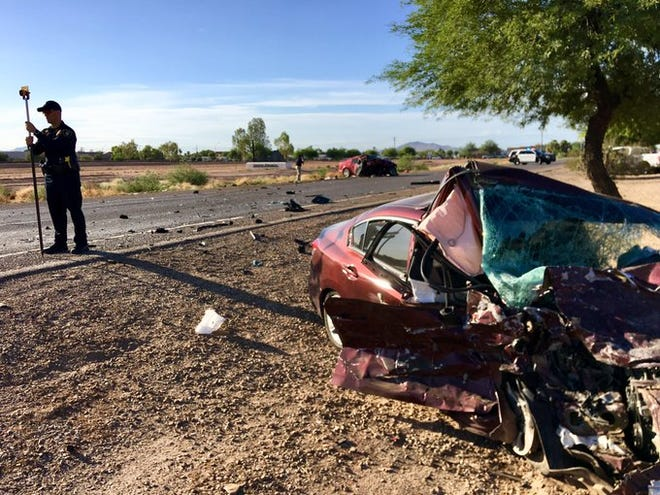 Two drivers were injured in a wrong-way crash on Pinal Drive, north of Rodeo Road, on Wednesday, August 28, 2019.