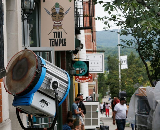 "A film crew was working along Main Street in the City of Poughkeepsie filming scenes for the HBO show ""I Know This Much Is True"" on August 28, 2019."