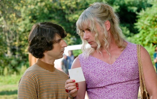 "Demetri Martin, left, and Liev Schreiber appear in a scene from Ang Lee's ""Taking Woodstock,"" which will be screened for free Sept. 20 at Montgomery Place in Annandale."