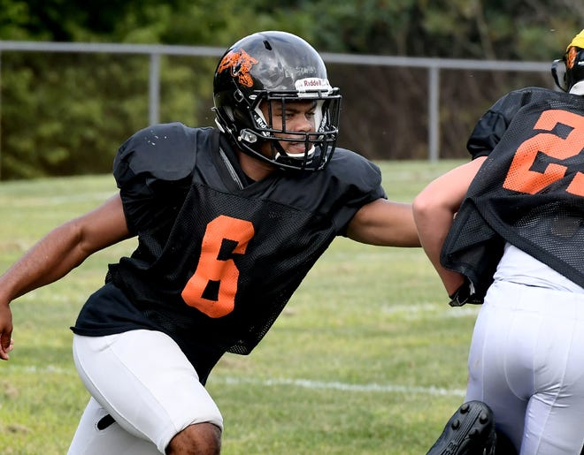 Northeastern running back Manny Capo is seen here in a file photo. Capo and his Bobcats are scheduled to face Spring Grove on Friday night.