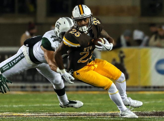 Wyoming's Austin Conway is the Cowboys' leading returning receiver.