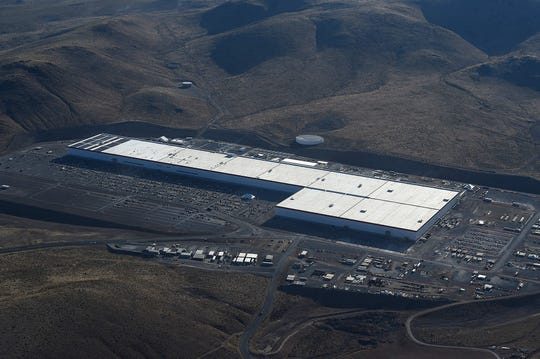The Tesla Gigafactory in the Tahoe Reno Industrial Center outside Reno, Nevada.