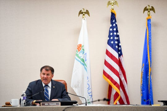 U.S. Sen. Mike Rounds (R-S.D.) holds a field hearing regarding the U.S. Army Corps of Engineers' management of the Missouri River Basin flooding on Wednesday, August 28, in North Sioux City.