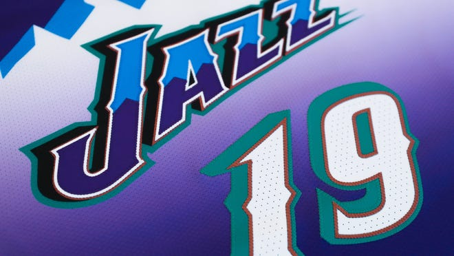Up close look at the classic jerseys the Utah Jazz will wear this season.