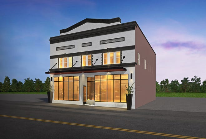 """A rendering for 107 W. College Avenue, formerly known as the """"Mural Wall,"""" which is being renovated as office / retail and is available for tenants."""