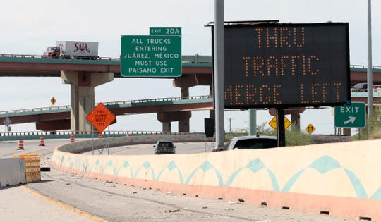 A ramp to Juárez from I-10 West will close for nine months as crews work to tie in ramps in the I-10 Connect Project. The construction will begin at 9 p.m. Sept. 8 on Ramp F.