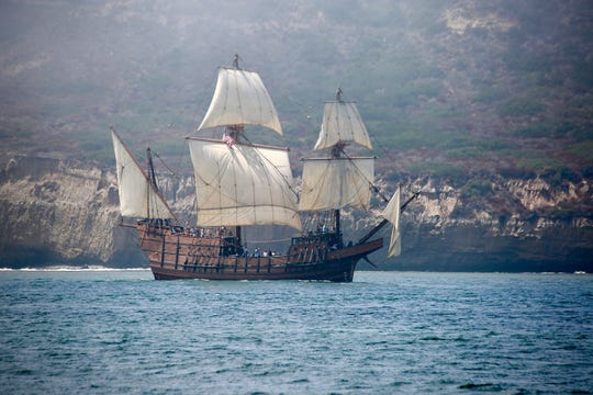 The San Salvador sails into Channel Islands Harbor in Oxnard Aug. 30 - Sept. 4.