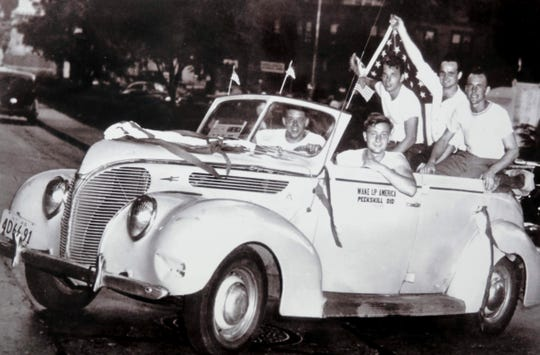 A photo from the Peekskill Race Riots. This month marks the 70th anniversary of the riots, when protestors who objected to African American singer and activist Paul Robeson performing in the area committed acts of violence.