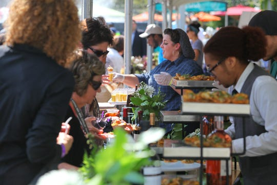USAToday's Food and Wine Experience  features samples of fine food and drink from the areas hippest venues along with cooking demonstrations, panel discussions and celebrity guests.