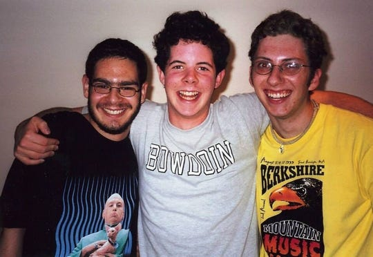 From left to right: Derek Upright, Andy Keshner and Foster Lukas, Rockland Country Day School alumni.