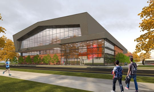 An artist rendering of The Ohio State University's Ty Tucker Tennis Center. The Zanesville graduate transformed the tennis program into one of the nation's best, and the school will break ground on the facility on Friday.