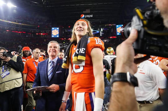 Now the face of college football, Clemson's Trevor Lawrence getting used to spotlight