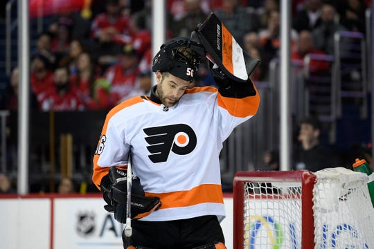 Mike McKenna's final NHL game was with the Flyers against the Capitals in January.